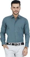 Mchenry Formal Shirts (Men's) - McHenry Men's Solid Formal Dark Green Shirt