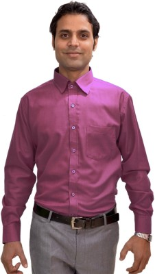 AVS Polo Men's Solid Casual Pink Shirt