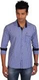 E-Color Men's Checkered Casual Multicolo...