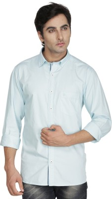 Kingswood Men's Solid Casual Blue, White Shirt