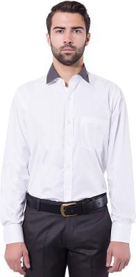 Tag & Trend Men's Solid Formal White Shirt