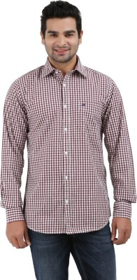 Haberfield Men's Checkered Casual Brown Shirt