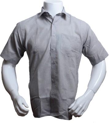 Qube Men's Solid Formal, Festive Grey Shirt