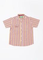 Gini & Jony Boys Checkered Casual White, Yellow, Red Shirt best price on Flipkart @ Rs. 899