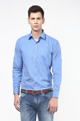 Remo Men's Solid Casual, Formal Light Blue Shirt
