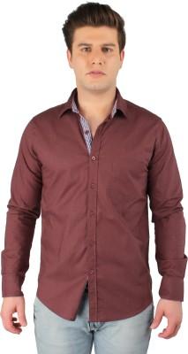 Zoro Auge Men's Solid Casual Linen Brown Shirt