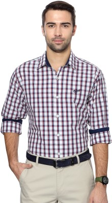 University of Oxford Men's Checkered Casual Multicolor Shirt