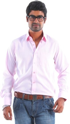 S9 Men's Striped Formal Pink, White Shirt
