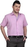 Zeal Formal Shirts (Men's) - Zeal Men's Solid Formal Pink Shirt