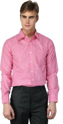 MNW Men's Solid Formal Pink Shirt
