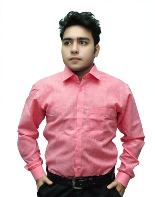Fashion Tree Men's Solid Formal Red Shirt