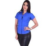Qbee Women's Solid Casual Blue Shirt