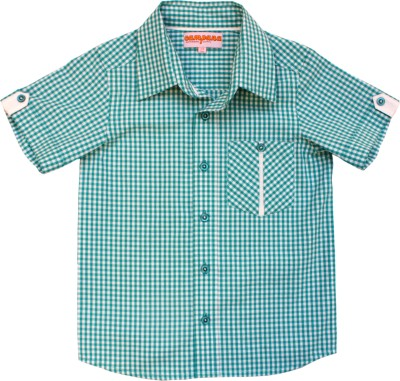 Campana Baby Boy's Checkered Casual Blue Shirt