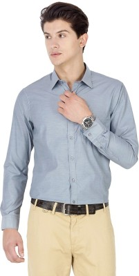 Kanva Men's Solid Casual Grey Shirt