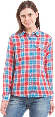 Flying Machine Women's Checkered Casual Multicolor Shirt