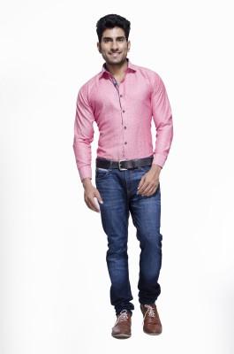 Jads Men's Printed Casual Pink, Blue Shirt