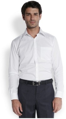 Park Avenue Men,s Solid Formal White Shirt