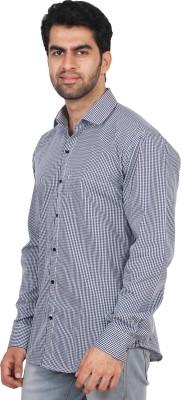 Rollinia Men,s Checkered Casual Black Shirt