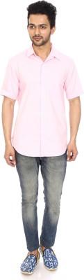 Kalaa Men's Printed Casual Pink Shirt