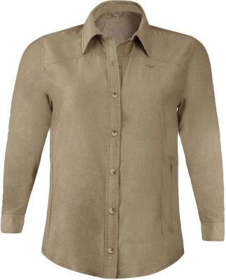 Wildcraft Women's Solid Casual Brown Shirt