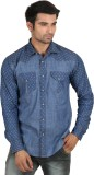 Caddy Cark Men's Self Design Casual Deni...