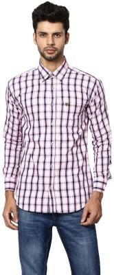 Saffire Men,s Checkered Formal, Casual Pink Shirt