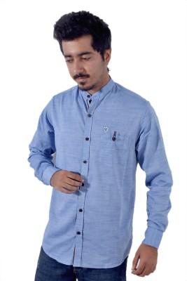 Tenor Men's Solid Casual Blue Shirt
