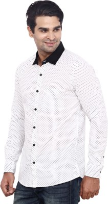 ANDY TRENDZ Men's Printed Casual White Shirt