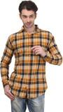 Custom Paid Men's Checkered Casual Yello...