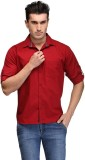 RPB Men's Solid Casual Red Shirt