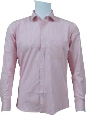 Ardeur Men's Striped Formal Pink, White Shirt
