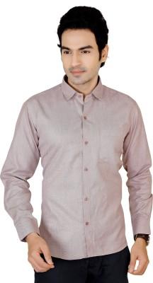 X-Secret Men's Solid Formal Brown Shirt