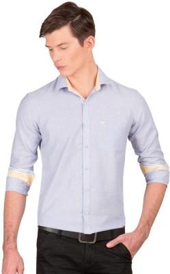 Taurus Men's Striped Casual Light Blue Shirt