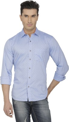 Spaky Men's Printed Casual Light Blue Shirt