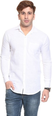 Stylistry Men's Solid Casual White Shirt