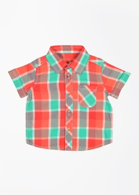 Mothercare Baby Boy's Checkered Casual Green, Red, Brown Shirt