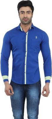 Fashion Stylus Men's Solid Casual Blue Shirt