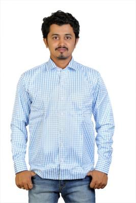 Egoist Men's Woven Formal Light Blue Shirt