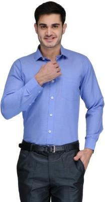 Harvest Men's Striped Formal Blue Shirt