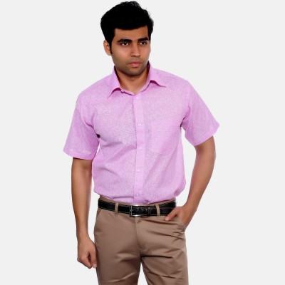Studio Nexx Men's Woven, Checkered Formal Purple Shirt