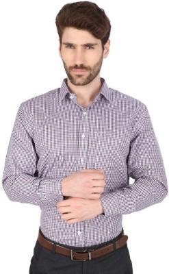 Big Tree Men,s Checkered Formal Purple Shirt