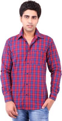 Swan Fashion Men's Checkered Formal Reversible Multicolor Shirt
