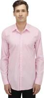 Haltung Formal Shirts (Men's) - Haltung Men's Solid Formal Pink Shirt