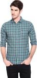Hueman Men's Checkered Casual Green Shir...