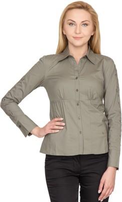 Species Women,s Solid Formal Green Shirt