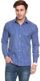 Pede Milan Men's Checkered Casual Blue S...