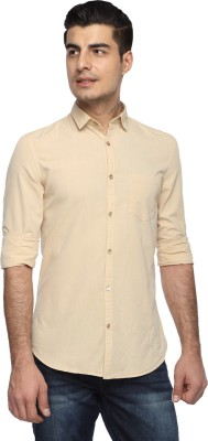 Marc N, Park Men's Solid Casual Beige Shirt