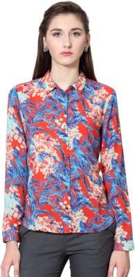 Van Heusen Womens Printed Casual Multicolor Shirt