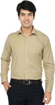 Spaky Men's Solid Formal Yellow Shirt
