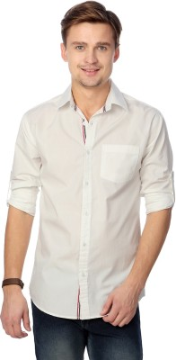 Top Notch Men's Solid Casual White Shirt